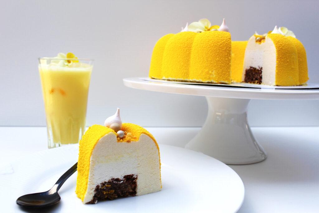 Hjemmelavet kage med smag af Solero isen. En lækker creamy kage der egner sig godt til festlige lejligheder.