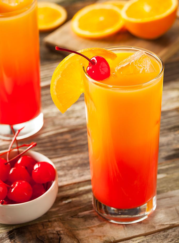 Passion Sunrise drink med CUBA Passion