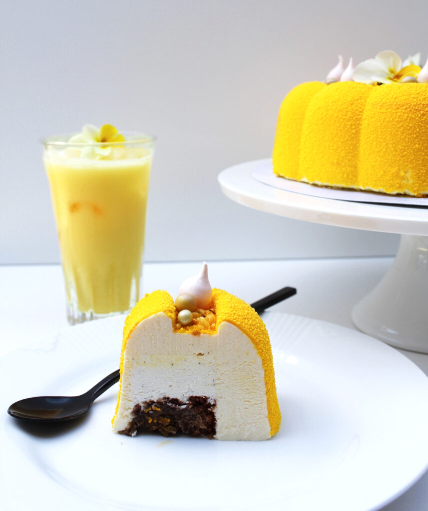 Udsnit af solero kagen der egner sig godt som dessert.